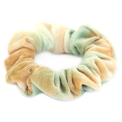 Chouchou velours Tie Dye vert