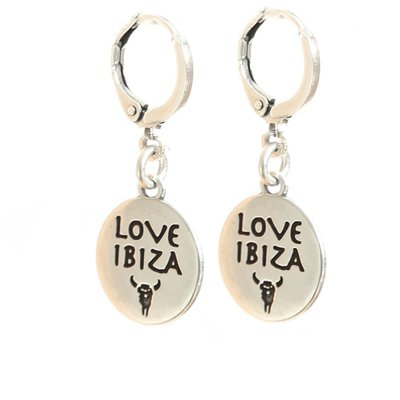 Boucle d'oreille Love Ibiza argent