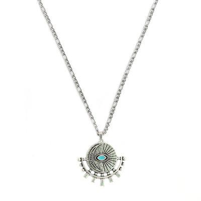Colliera amulet turquoise eye argent