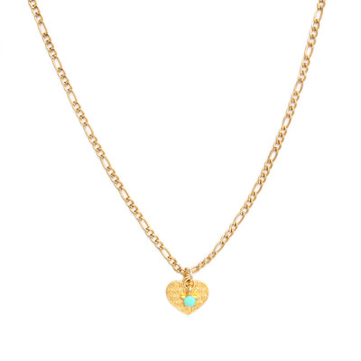 Collier heart or turquoise star