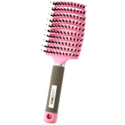 Brosse à cheveux anti-enchevêtrement rose
