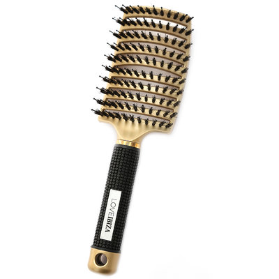 Brosse à cheveux anti-enchevêtrement or