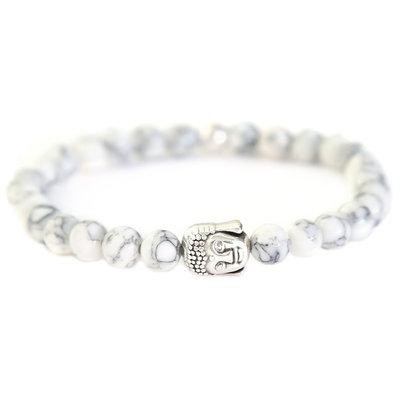 Bracelet Bouddha Pierre arctic blanc