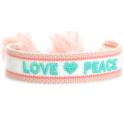 Bracelet tissé love & peace