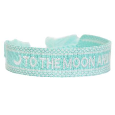 Bracelet tissé to the moon and back minze