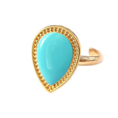 Bague versailles turquoise or
