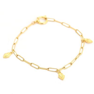 Anklet ocean drops gold