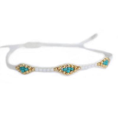 Bracelete miyuki Ibiza white