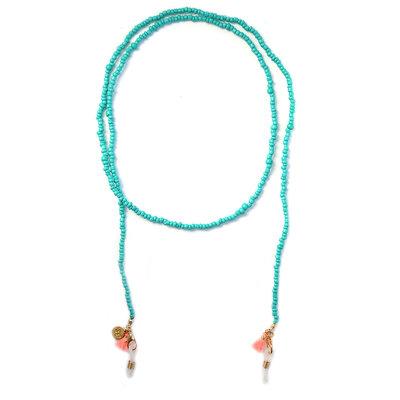 Cordon de lunettes de soleil turquoise