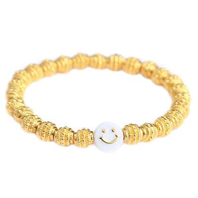 Bracelet golden smiley
