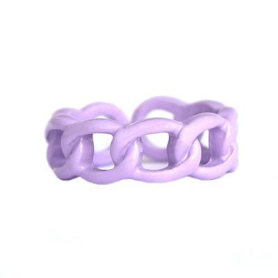 Bague chain lilac