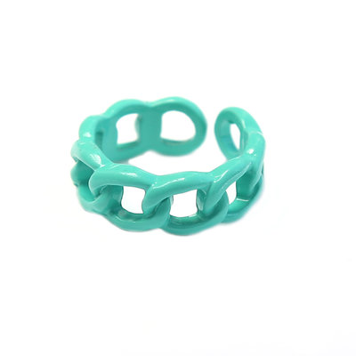 Bague chain turquoise green