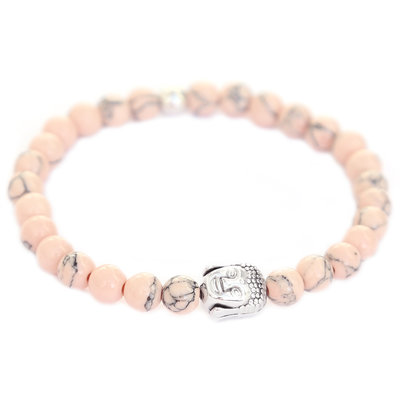 Bracelet Bouddha rose pale