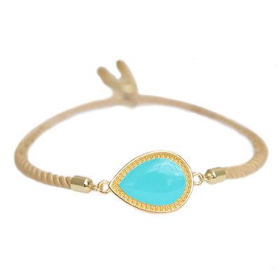 Bracelet Versailles turquoise or