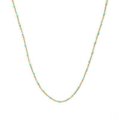 Collier little chain turquoise