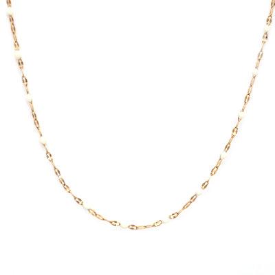Collier little chain white
