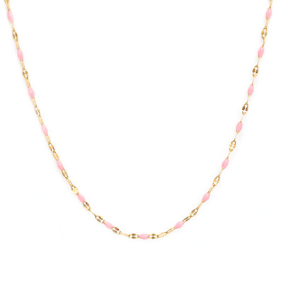 Collier little chain pink