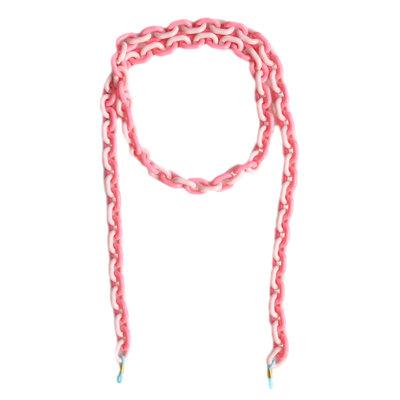 Cordon de lunettes de soleil rose chain
