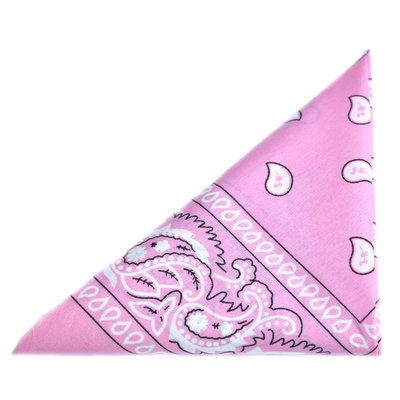 Foulard bandana paisley rosa