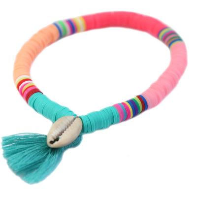 Bracelet summer shell azur