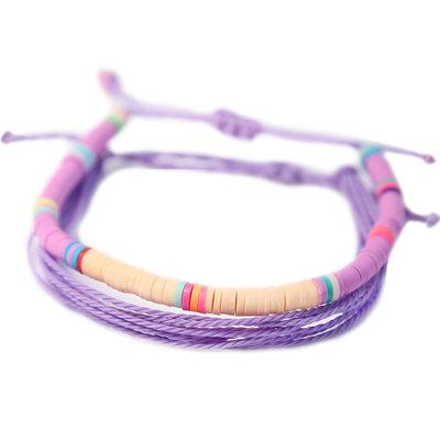 Lot de 2 bracelets surf violet