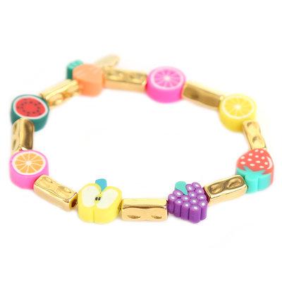 Bracelet tutti frutti or