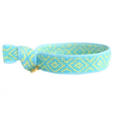 Bracelet tissé Mexican bleu