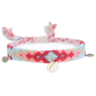 Anklet coton coral reef