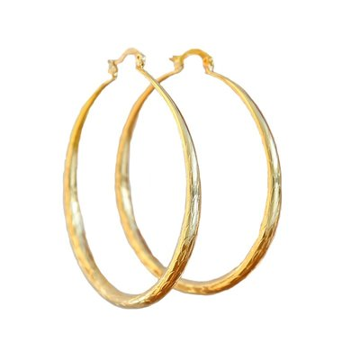 Boucle d'oreille bambou hoops or