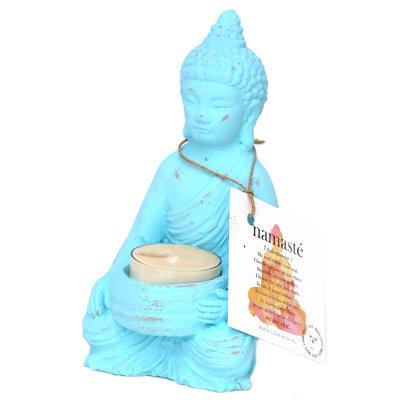 Photophore bouddha turquoise