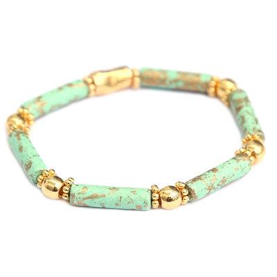 Bracelet Tuscany menthe or