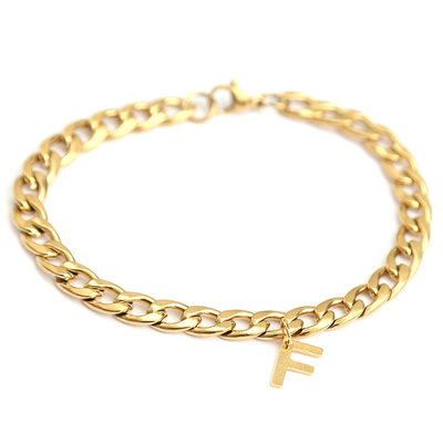 Bracelet chain initial or