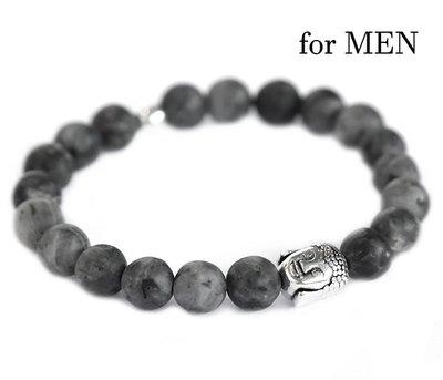 Bracelet bouddha pierre noire pour homme