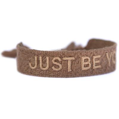Bracelet tissé just be you taupe