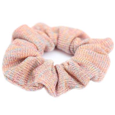 Chouchou knitted rose glitter