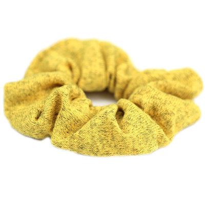 Chouchou knitted jaune melee