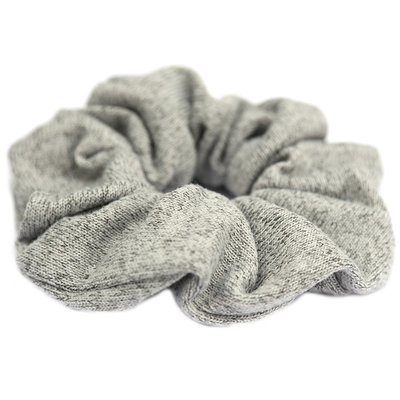 Chouchou knitted grey melee