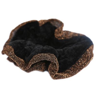 Chouchou velvet glitter edges