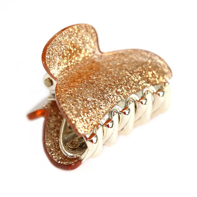 Pince à cheveux small gold sparkle