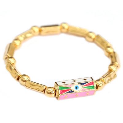 Bracelet pink gold eye