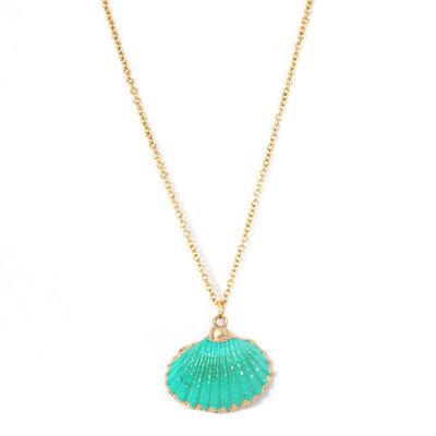 Collier Sea shell green
