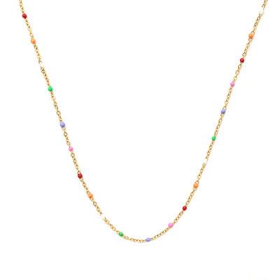 Collier little chain rainbow