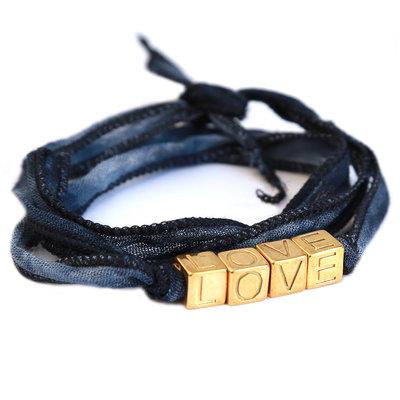 Love wrap indigo jeans