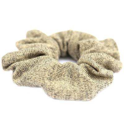 Chouchou knitted beige yellow
