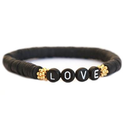 Winter bracelet LOVE noir