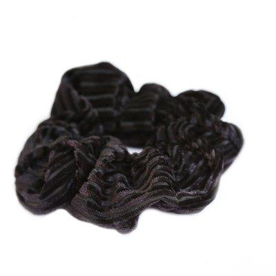 Chouchou velours côtelé noir