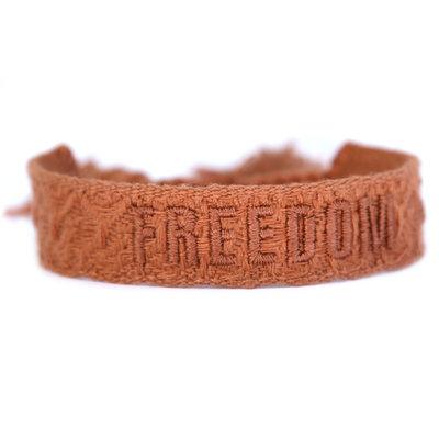 Bracelet tissé freedom cuivre