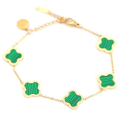 Bracelet lucky clover verts