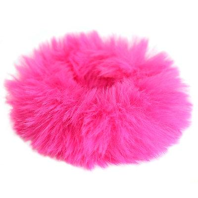 Chouchou faux fur pink