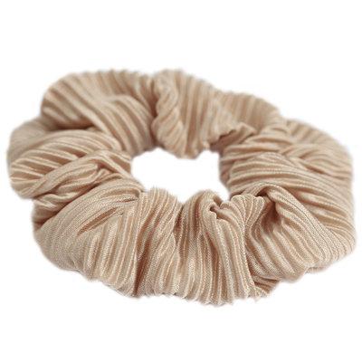 Chouchou plisse beige